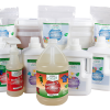 group image of the full line of azure clean laundry products including natural laundry pwder, laundry liquid and enzyme stain remover