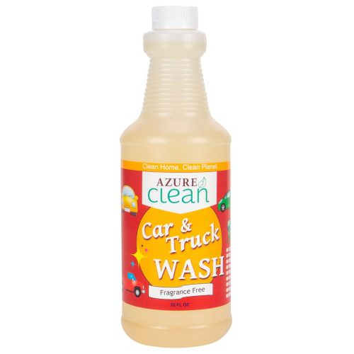 32 oz bottle of car and truck wash fragrance free in plastic spray bottle